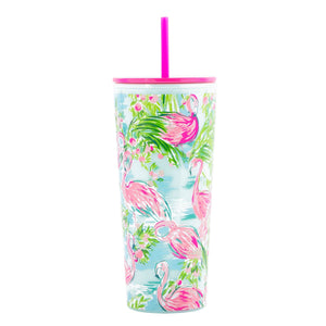Lilly Pulitzer Tumbler with Straw, Floridita