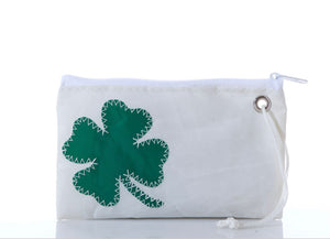 Sea Bag Shamrock - Four Leaf Clover Wristlet