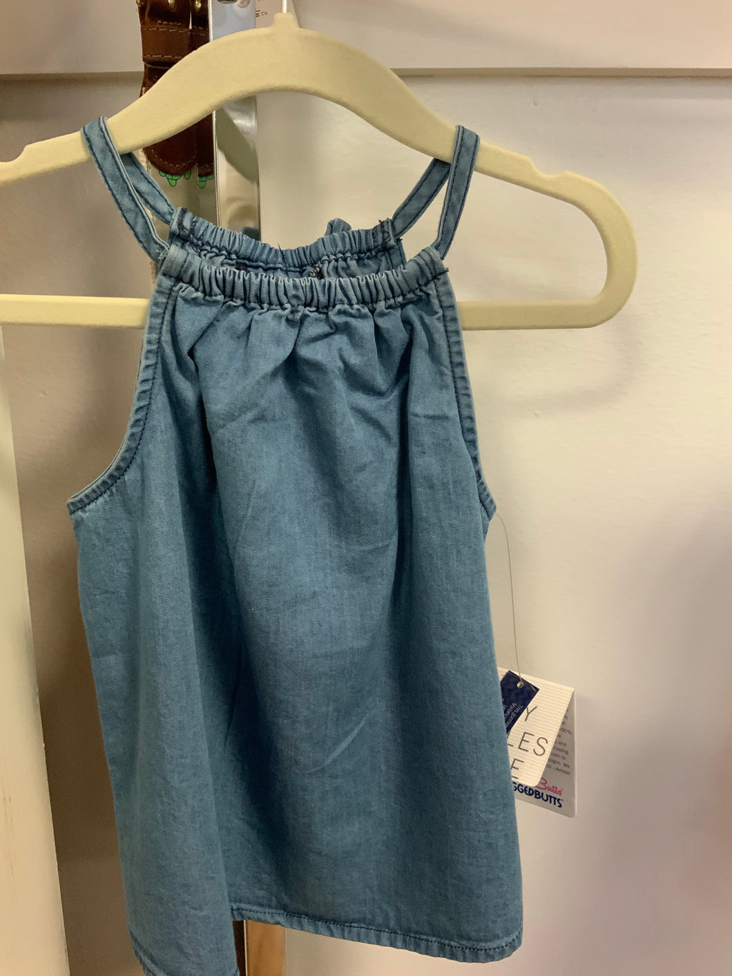 Girls Denim Tank by Ruffle Butts