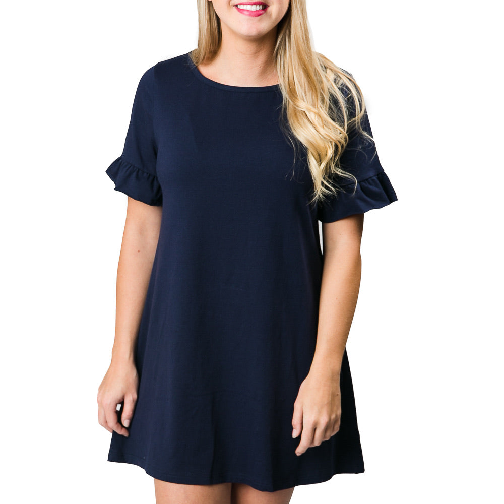 Top It Off - Lorena Dress Navy