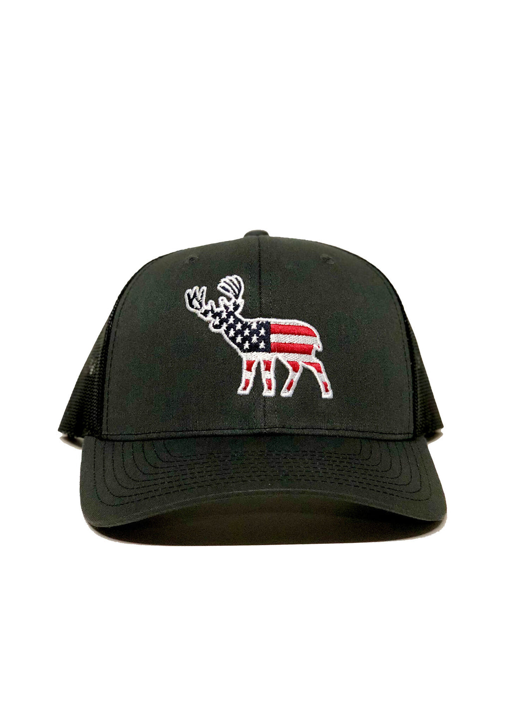 Southern Snap USA Deer Trucker Hat Gray/Black