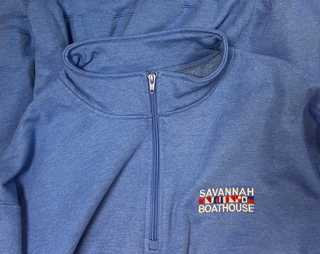 Savannah Boathouse 3/4 Zip Sweatshirt Blue