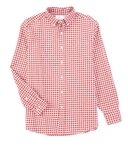 Southern Tide Sangria Checked Button Down