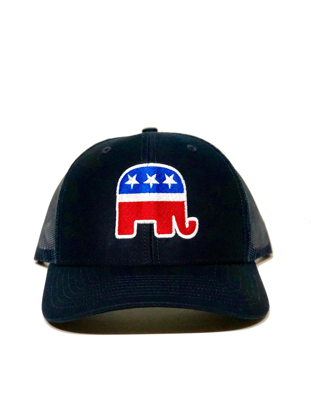 Republican Elephant Trucker Hat Solid Navy