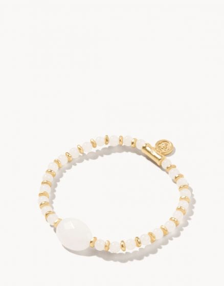 Spartina - Gold White Stretch Bracelet