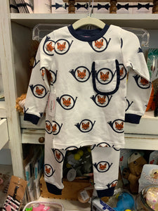 Blue Fox Pajama Set by Posh Pickle