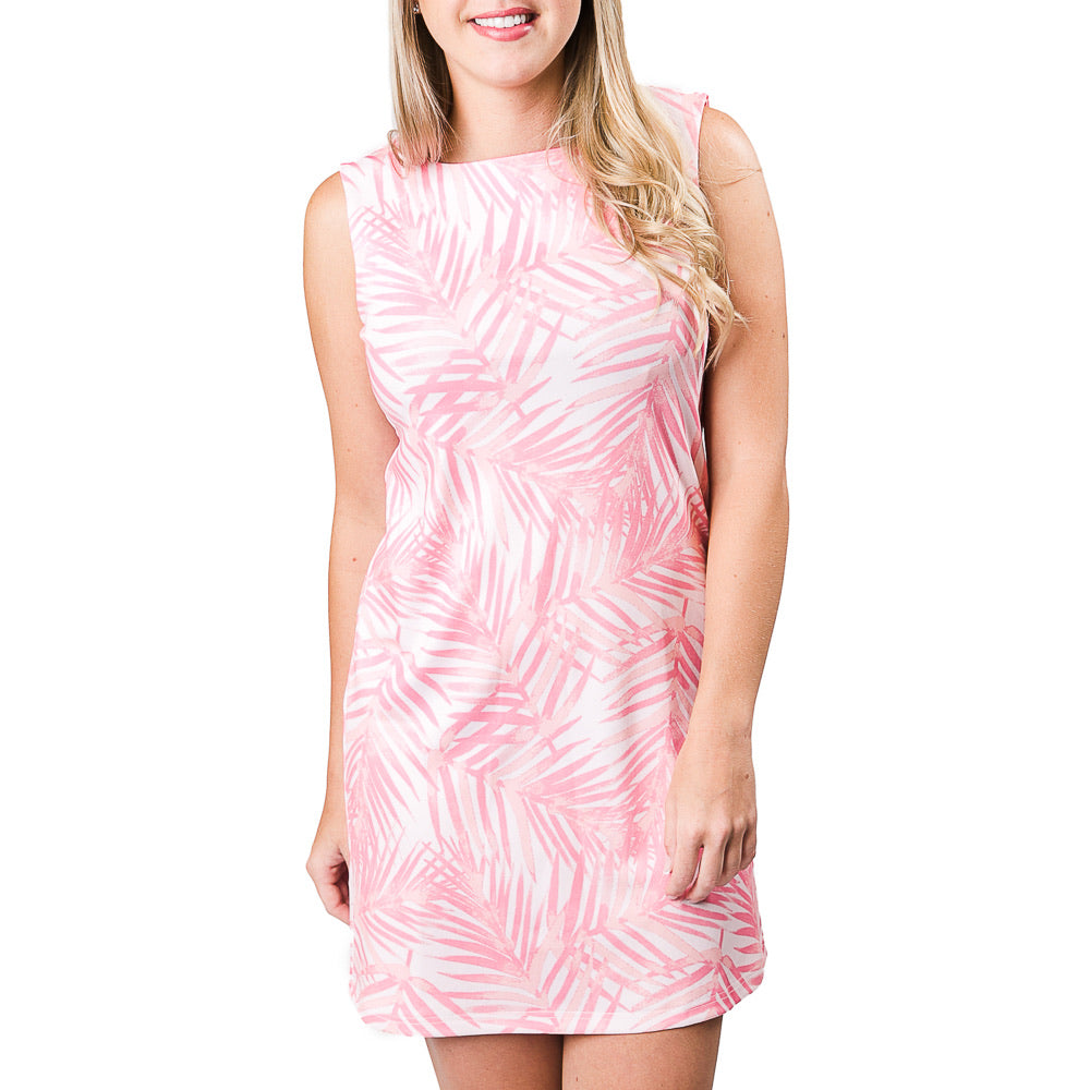 Top It Off - Celine Dress - Pink Island Palm