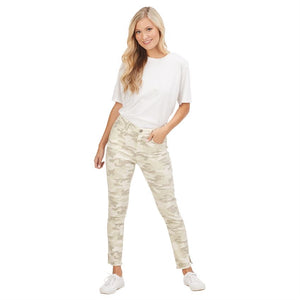 Mud Pie White Camo Pants