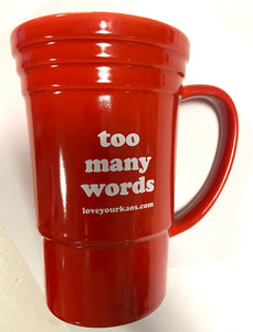 Red 'Too Many Words'