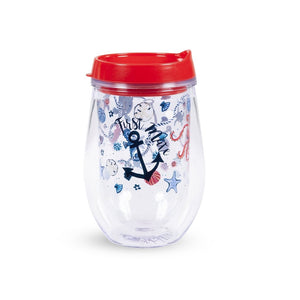 vera bradley wine tumbler with lid, sea life