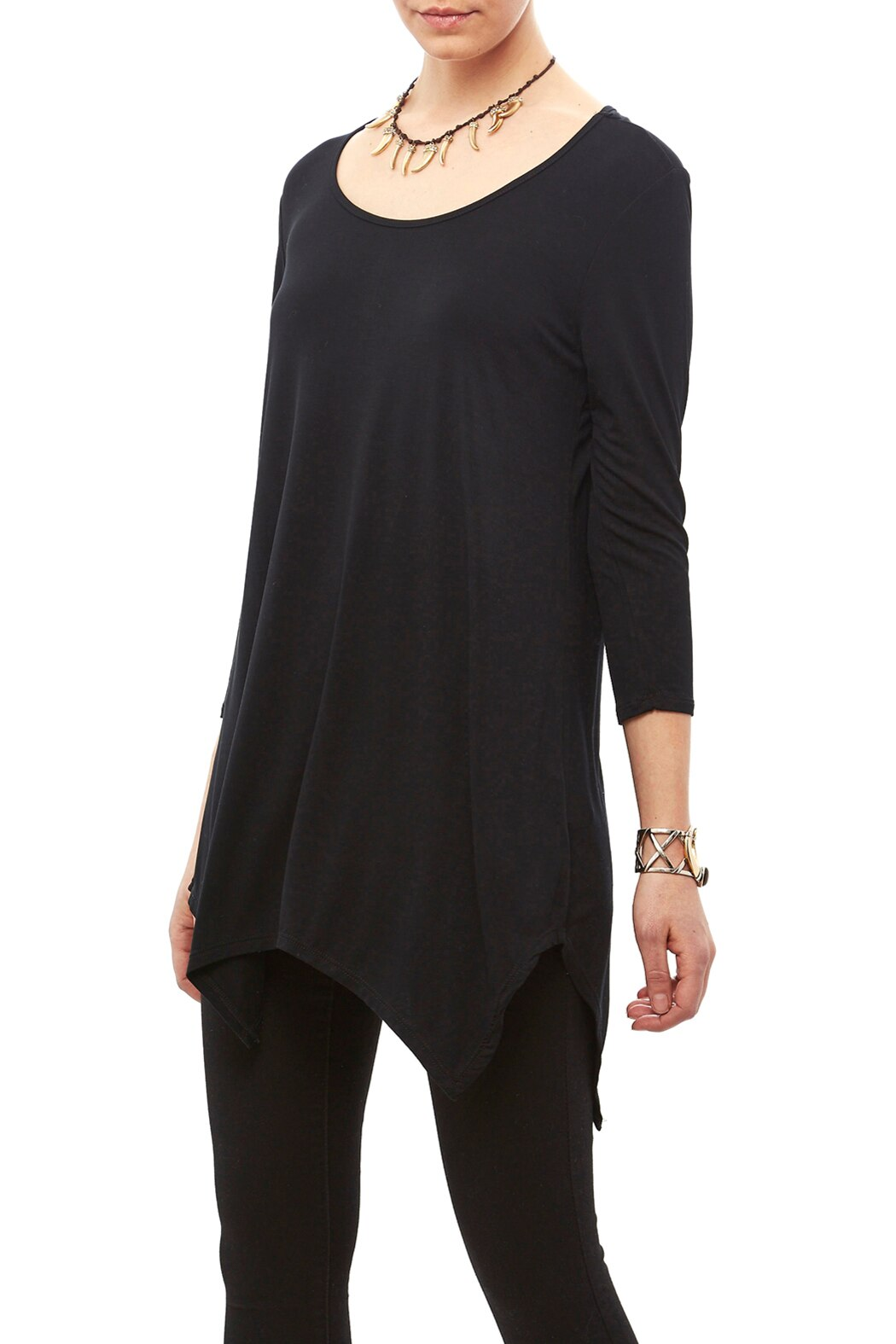 Black long sleeve with mesh shoulders