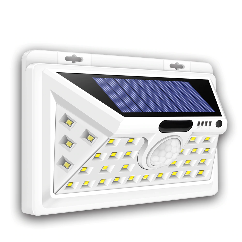 Solar-Powered Motion Sensor Security Wall Light