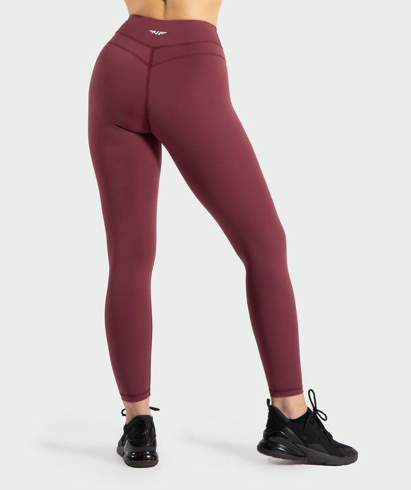 These Mulberry-purple leggings are so soft and comfortable with a supportive waistband for all kind of sports .It is with reflective printing on hem and backside .its coinstruction of Nylon and elastane makes it ideal for all season.