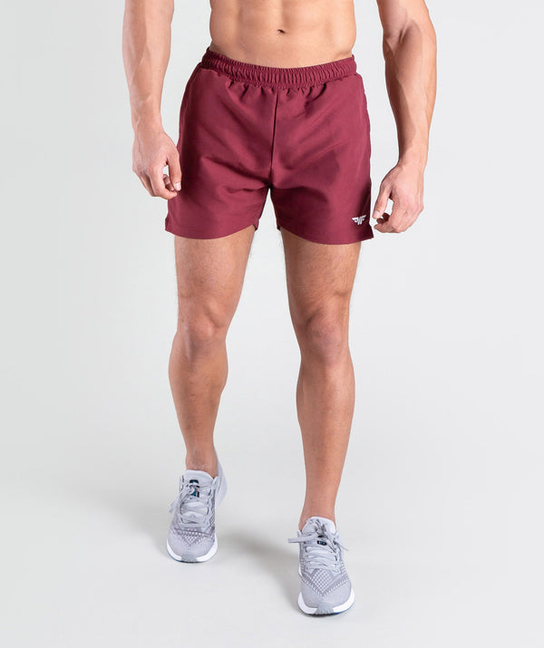 men tactile red shorts