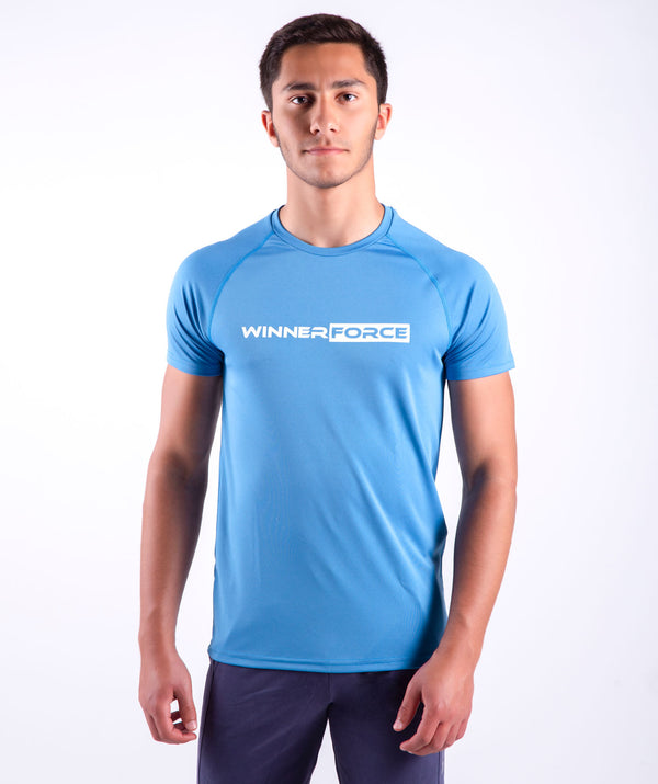 THIS TSHIRT IS MADE OF SOFT POLYESTER BLENDED WITH 10 % SPANDEX TO FEEL VERY COMFY.IT IS VERY SPECIAL CUT ,SIMPLE WITH WINNERFORCE BRANDED LOGO.EVEIRED WITH CASUAL PANTS .THE ESSENTIAL TSHIRT IS AVAILABLE IN MANY COLORS .N YOU WANT TO WEAR IT PA