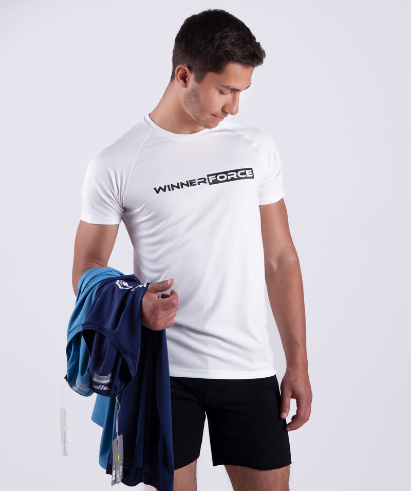 men - essential - short sleeves - t-shirt - white