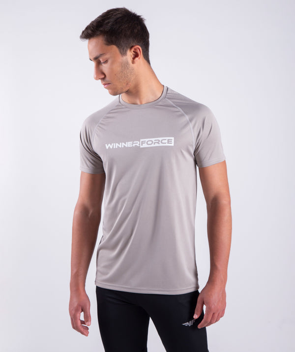men - essential - short sleeves - t-shirt - grey