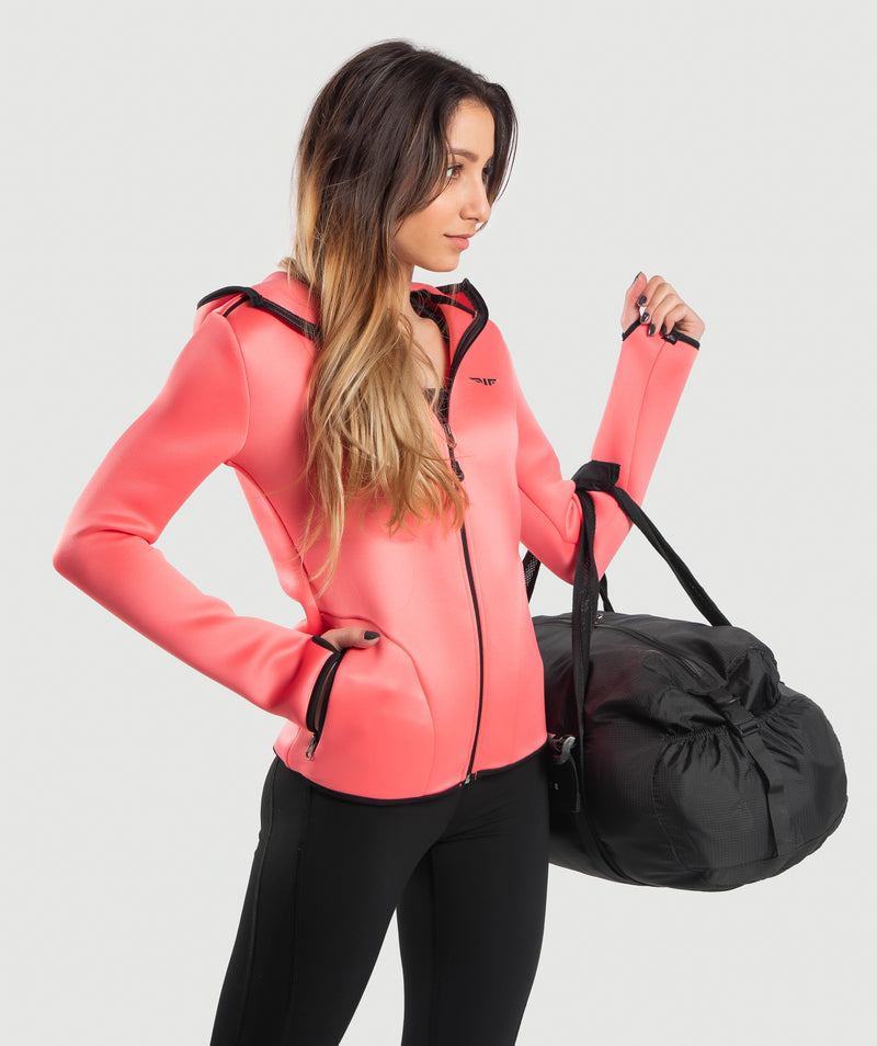 WOMEN-MARSHMALLOW-HOODY(PUNCH-PINK)