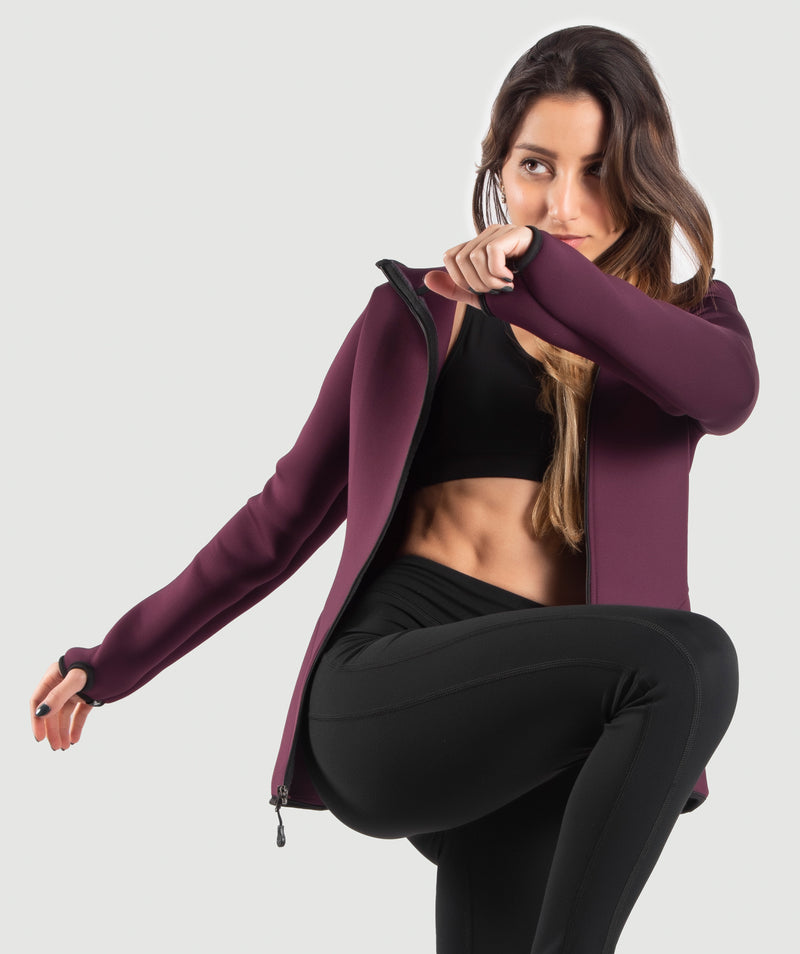 WOMEN-MARSHMALLOW-HOODY(MULBERRY-PURPLE)
