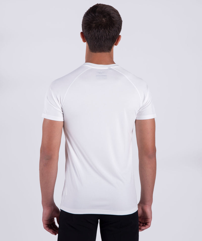 men  short sleeves - white - gym wear-brand - LEBANON