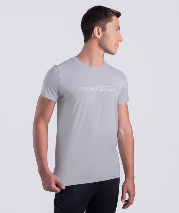 men - row -t-shirt - short sleeves - grey