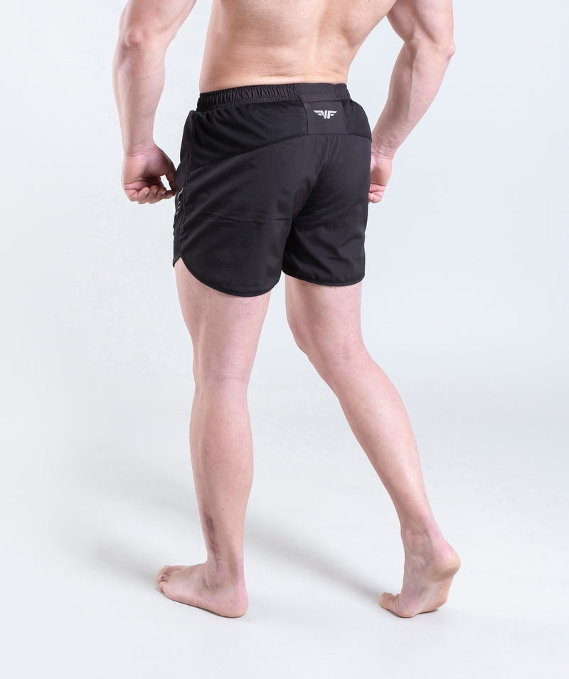 affordable men black shorts for workout