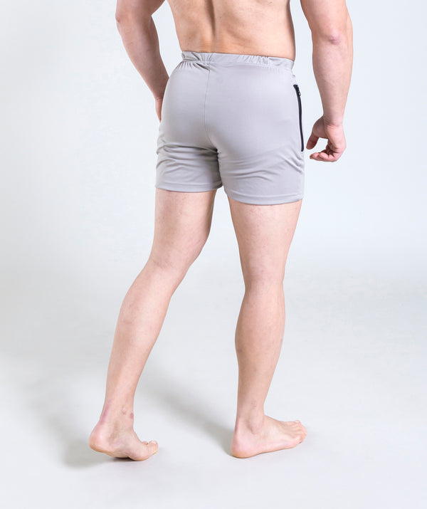 men - leganzo - short - light grey - gymwear