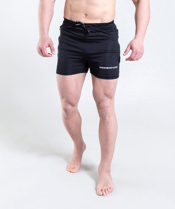 men - leganzo - short - black - gymwear