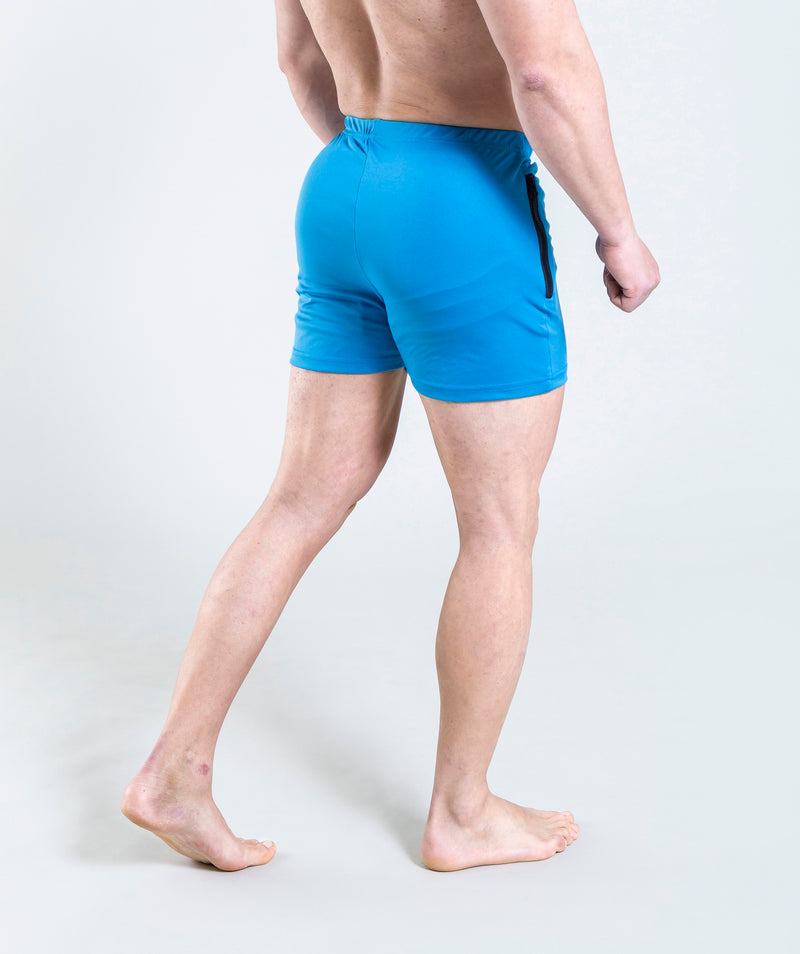 men - leganzo - short - light blue - gymwear