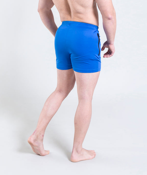 men - leganzo - short - dark blue- gymwear