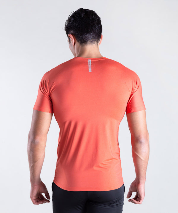 men - physic  - t-shirt - orange - short sleeves - new brand