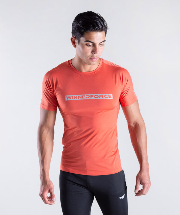 men  - t-shirt - orange - stylish - comfort