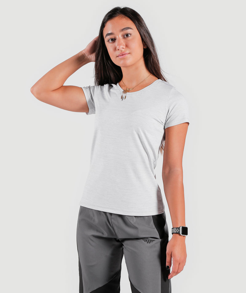 WOMEN-TEAMWORK-T-SHIRT(CLOUDY-WHITE)
