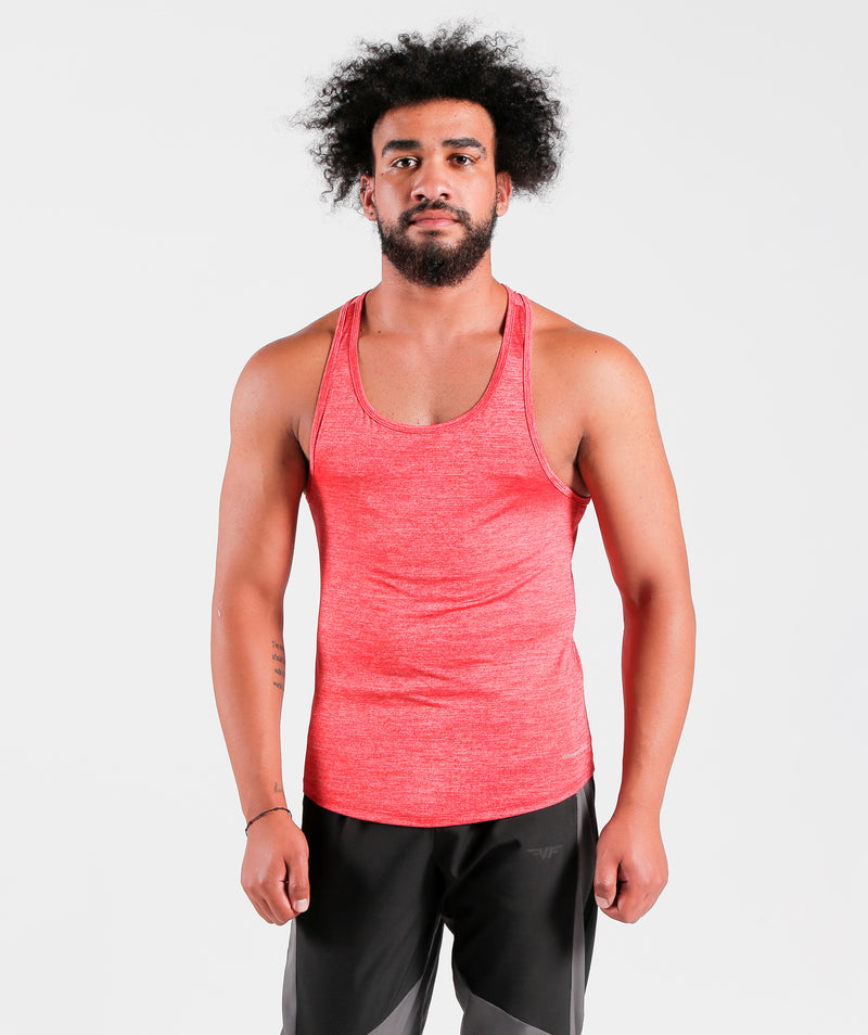 Men Teamwork Tank Candy Red For Gym Clothing Marl Fabric
