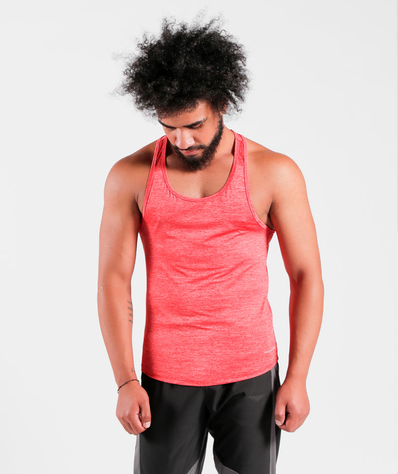 Men Teamwork Tank Candy Red Color Sportswear For Gym Clothing Dri-Fit Marl Fabric