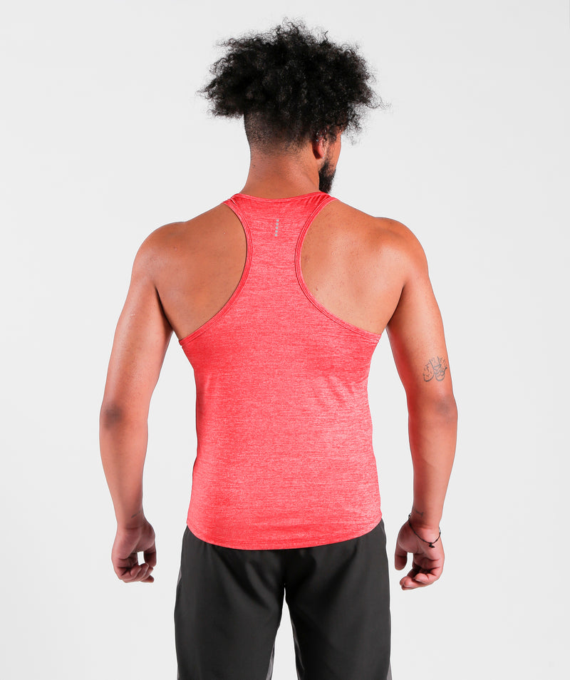 Men Teamwork Tank Candy Red For Gym Clothing Marl Fabric LEBANON