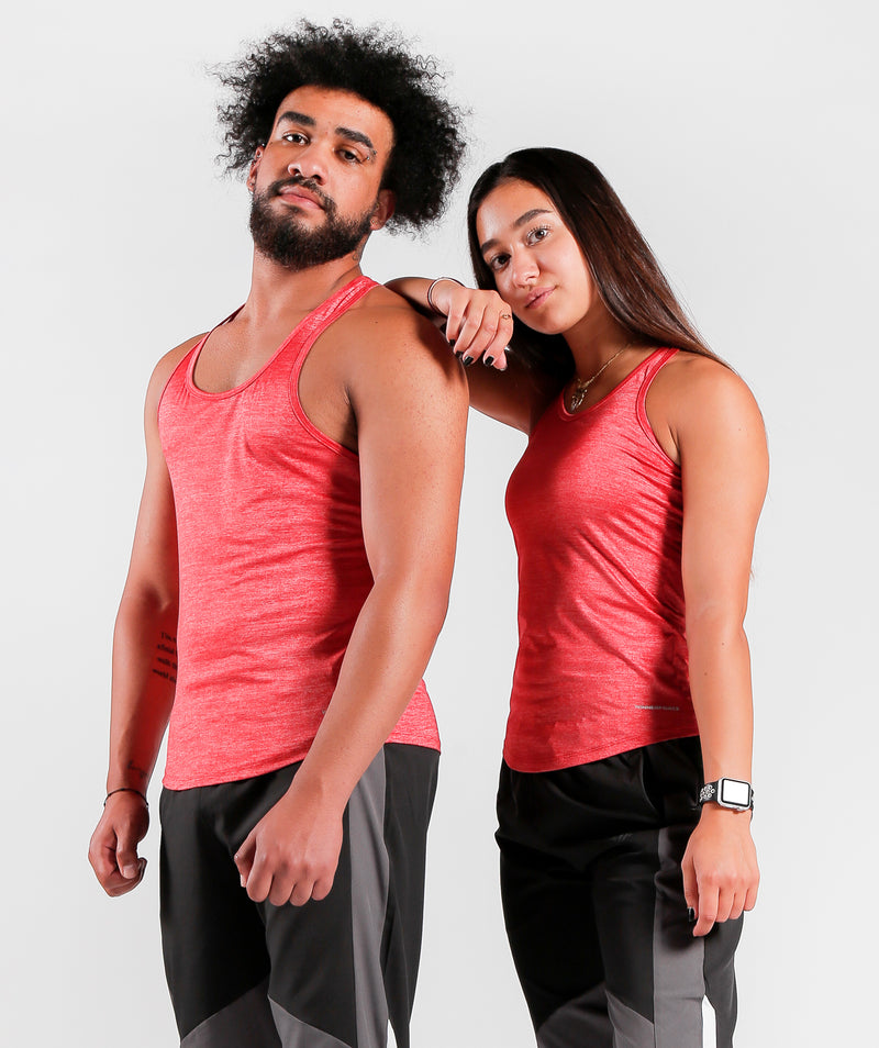 Men Teamwork Tank Candy Red Color Sportswear For Gym Clothing Dri-Fit Marl Fabric LEBANON