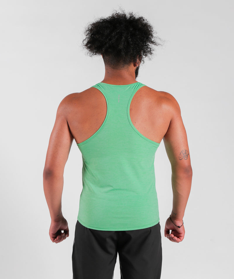 Men Teamwork Tank Parakeet Green with Dry-Fit Fabric OMAN
