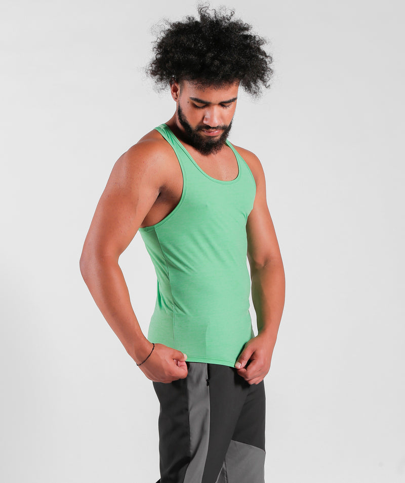 Men Teamwork Tank Parakeet Green Sportswear Outfit Clothes For Gym With Dry-Fit Fabric Winnerforce Brand LEBANON
