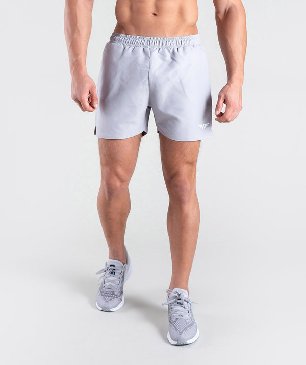 men tactile grey shorts
