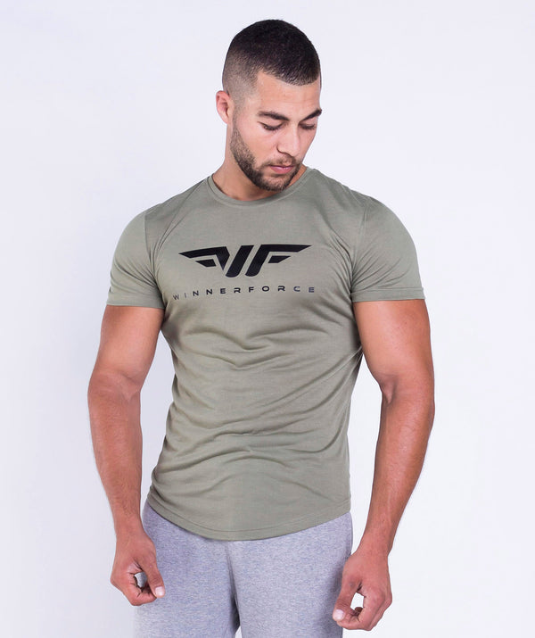 Short sleeves T-shirt crew neck gym top QATAR