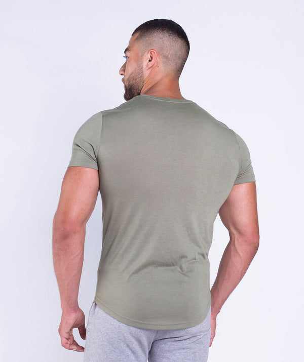 Olive green T-shirt ideal for lift weight or any sports activities SAUDI ARABIA