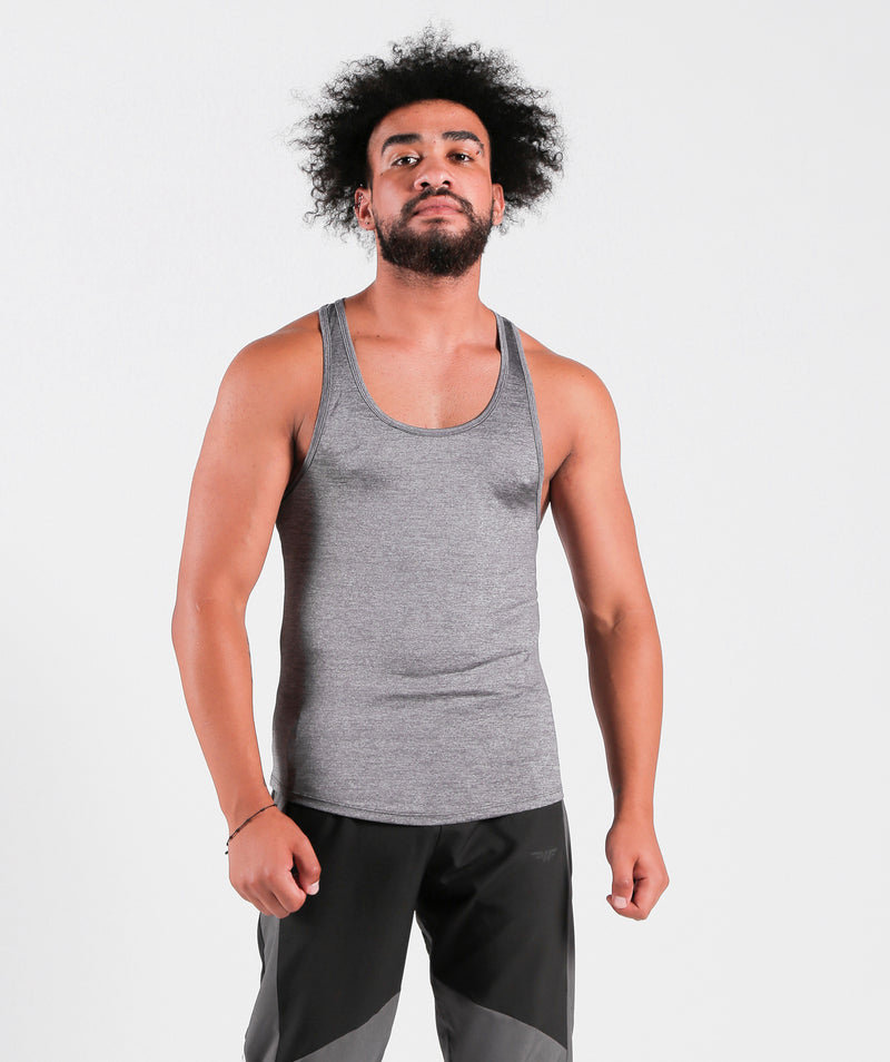 Tank Steel Grey Sportswear Outfit Clothes For Gym With Dry-Fit Fabric Winnerforce Brand LEBANON
