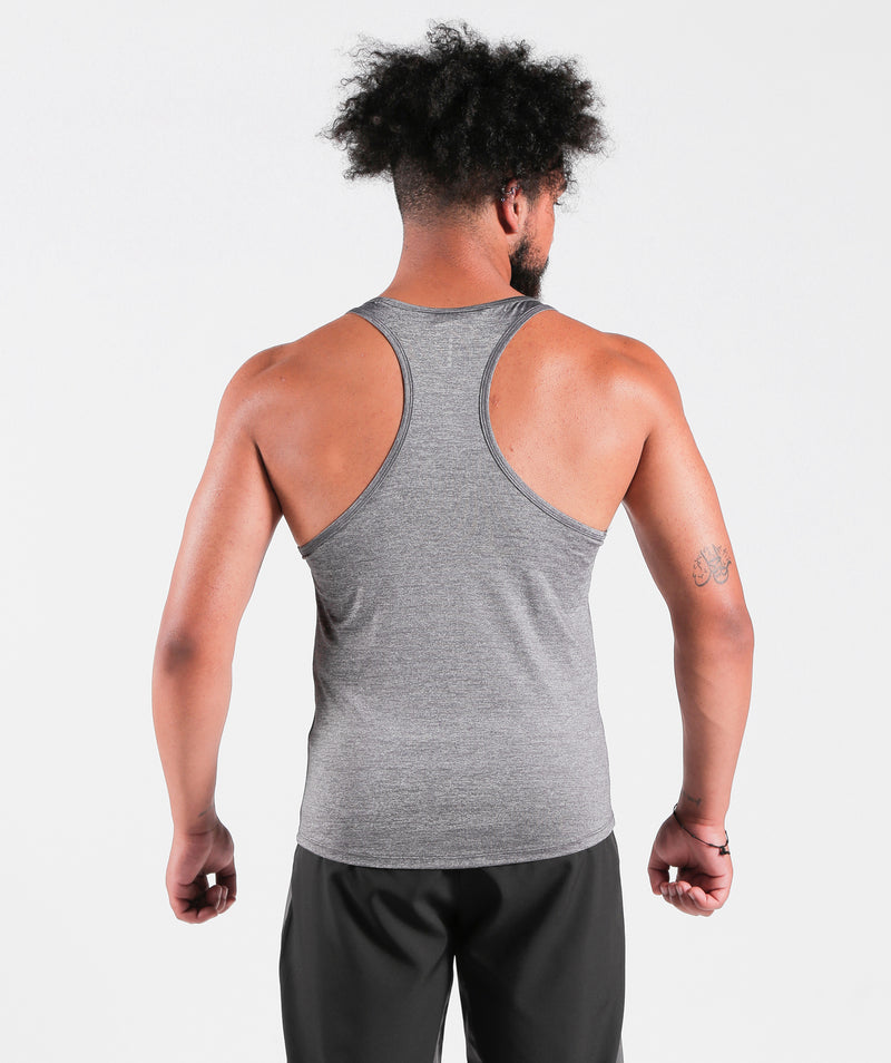 Men Teamwork Tank Steel Grey Sportswear Outfit Clothes For Gym With Dry-Fit Fabric Winnerforce Brand QATAR