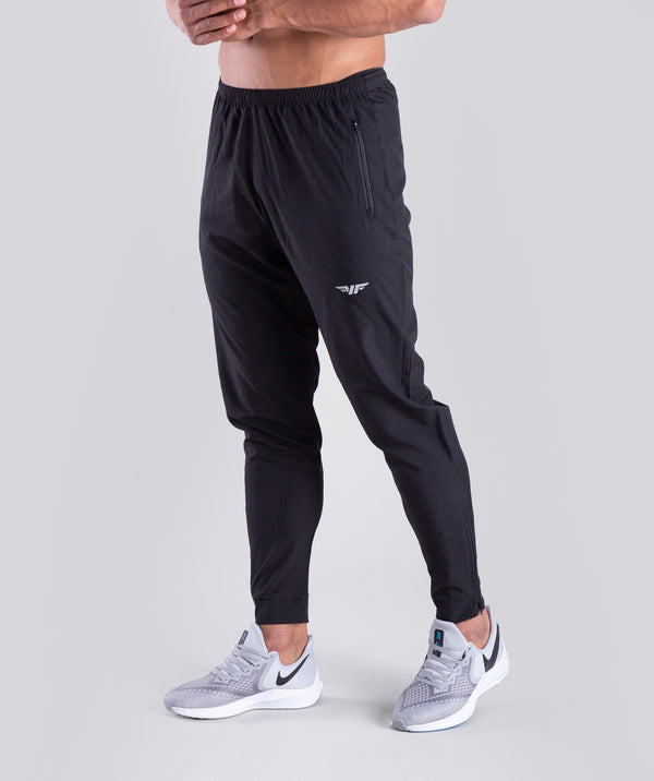 THE ATHLES BLACK  PANT ARE VERY COMFORTABLE WITH YKK ZIPPER AND A REFLECTIVE LOGO TO THE LEFT LEG.YOU CAN WEAR IT WHILE LIFTING ,RUNNING OR ANY SPORTS ACTIVITY.