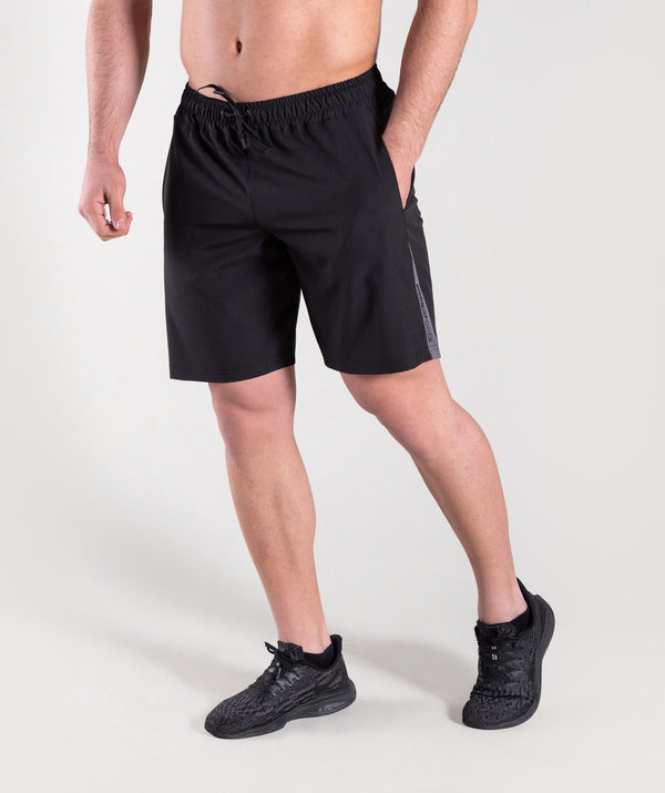 Men black athletic shorts  for maximum workout ERBIL
