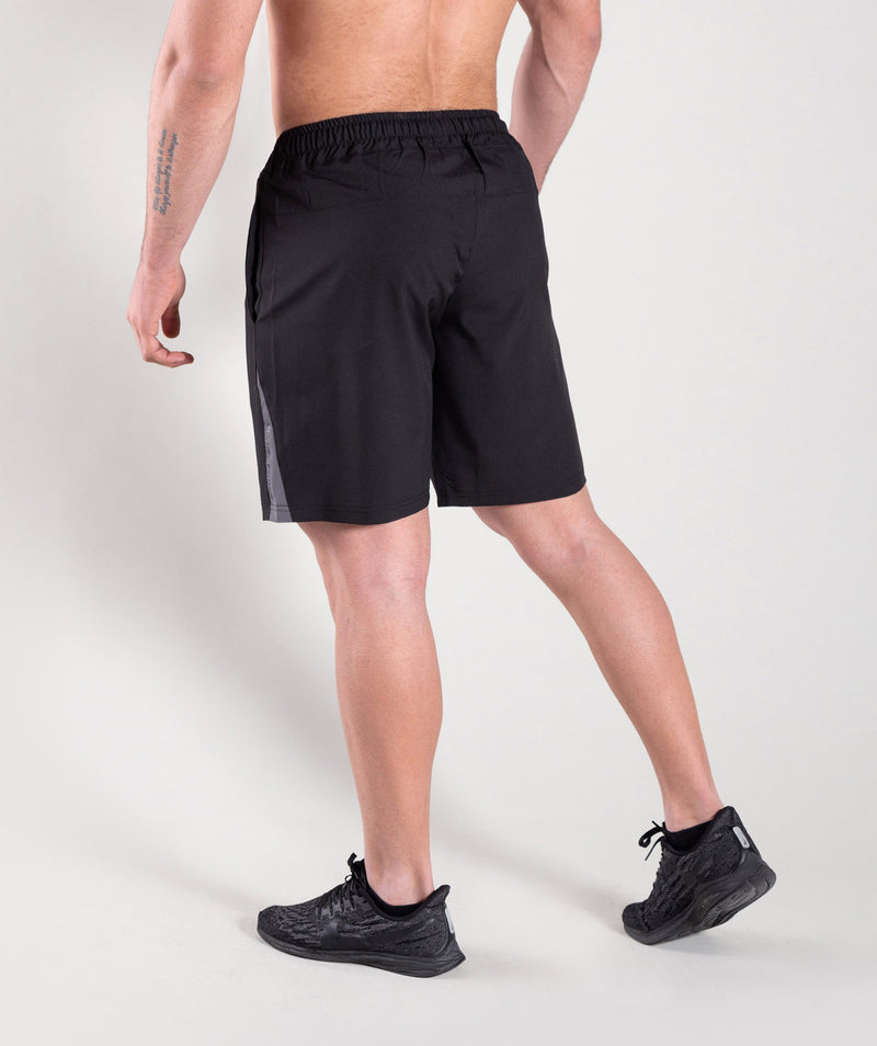Men workout black shorts with freedom to move KUWAIT