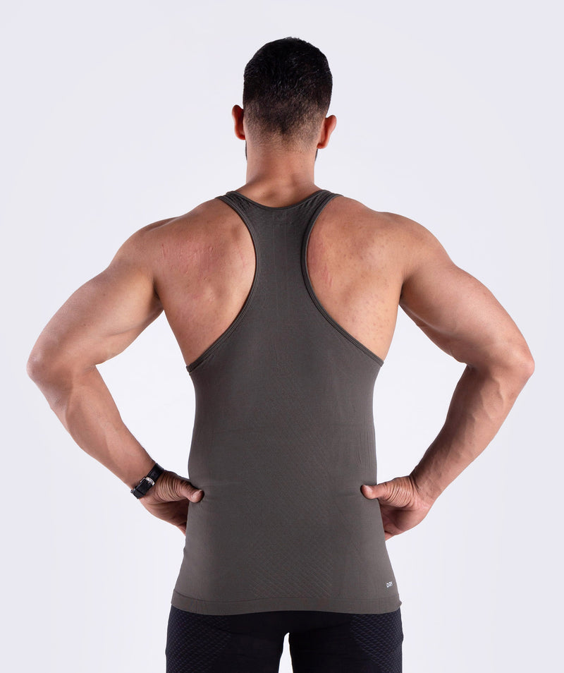 Men seamless tank  with reflective logo QATAR
