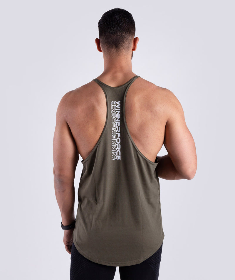 THIS STRINGER TANK IS IDEAL TO SHOW OFF YOUR MUSCLE.MADE OF 100% COTTON WITH A WINNERFORCE LOGO TO CHEST.THIS TANK IS SUITABLE FOR TRAINING,CARDIO SESSIONS OR LIFTING.