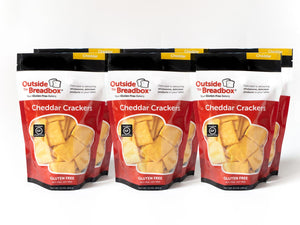 Cheddar Crackers 6-Pack: Six Packages of Your Favorite Gluten-Free Cheddar Crackers